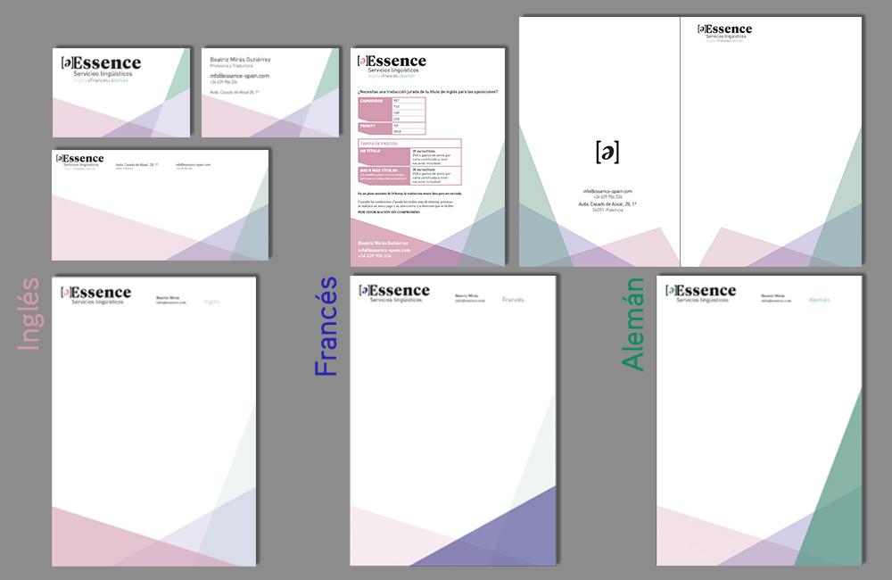 essence diseño papeleria corporativa
